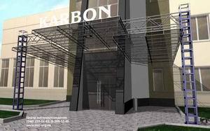 3D model of entrance lobby
