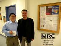 From left to right: Professor of Drexel University, Dr. Christopher Li and Director of LTD 'Materials research centre' Alex Gogotsi
