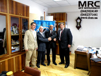 From left to right: Director of LTD 'Materials research centre' Alex Gogotsi, Professor G.A . Gogotsi, Dr. Abdel-Fattah Siyam, Ph.D. Dean of Engineering - Faculty of Physics NTU of Ukraine 'Kiev Polytechnic Institute' P. Loboda