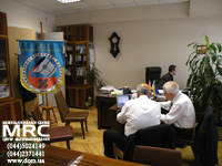 Harmonization of positions on the US-Ukrainian program of the cooperation in the field of the science research and education between Professor G.A . Gogotsi and Dr. Abdel-Fattah Siyam in the office of the Dean of Engineering - Faculty of Physics NTU of Ukraine 'Kiev Polytechnic Institute'