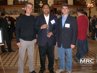 From left to right: Director of LTD 'Materials research centre' A.Gogotsi, laureate of reward of Drexel University Rajan Dash, Director of A.J. Drexel Nanotechnology Institute, professor Y. Gogotsi