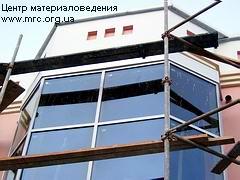 Фасадна система - обшивка козирка і фронтону алюмінієм